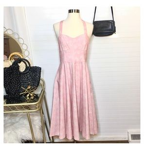 NEW Gianni Bini Floral Fit & Flare Pink Midi Dress